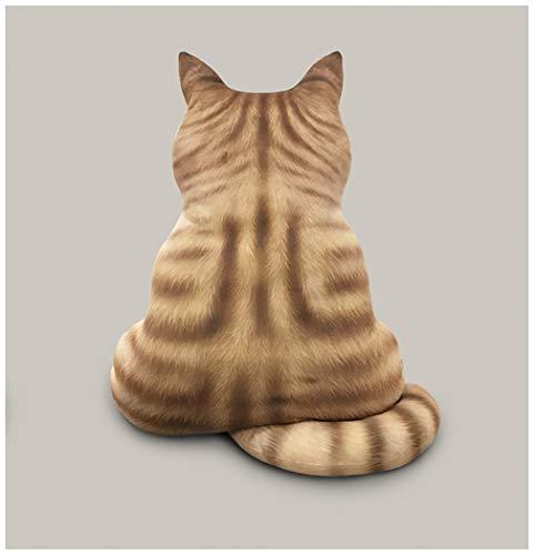 yfkjh Juguete De Peluche con Vista Posterior del Gato, Gato