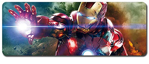 Iron Man,Avengers Mouse Pad,Professional Large Gaming Mouse Pad, Classic Pattern Mouse mat,Extended Size Desk Mat Non-Slip Rubber Mouse Mat,Marvel (800 × 300× 2 mm / 31.5 × 11.8 × 0.1 inch, 34)