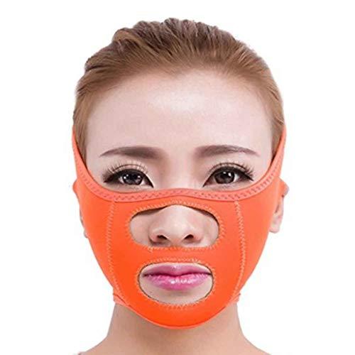 Soins du Visage Visage Minceur Chin Cheek Masque Lift V Face Line Ceinture Strap Visage Slim Mask (Color : Orange)