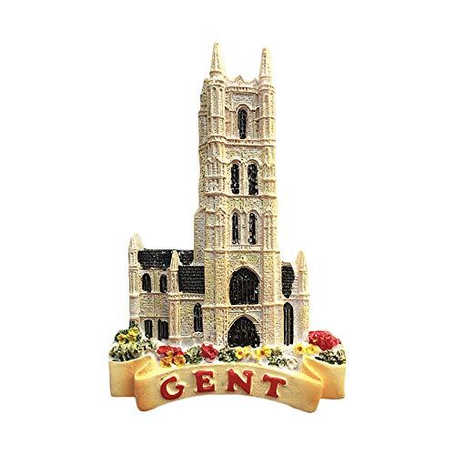 Gand Belgique 3D Aimant pour Réfrigérateur Souvenirs À La Main Résine Magnétique Autocollants À La Maison Cuisine Décoration, Gent Frigo Magnet Collection Cadeau