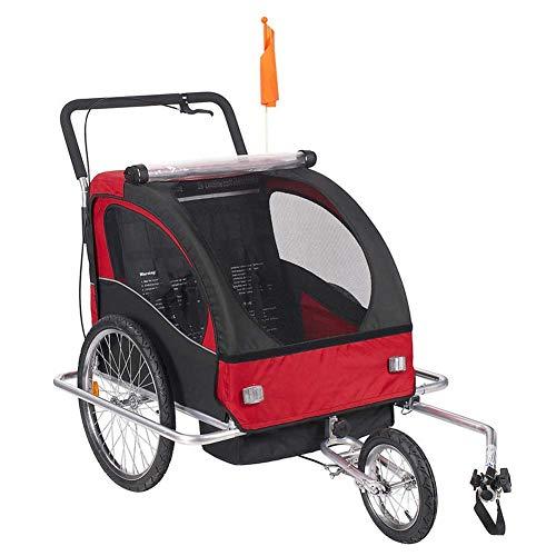 Qnlly Aluminiumlegierung Rahmen Kinderwagen mit 20 Zoll Rad, Faltradanhänger, Kinder Jogger Kinderwagen, Fahrrad Tandem Fahrradanhänger