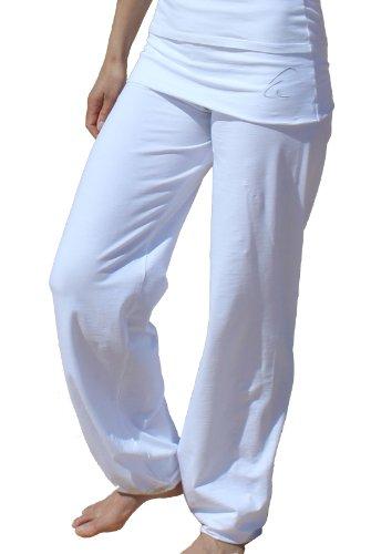 Esparto Sooraj Pantalones de yoga de algodón orgánico, color Schneeweiss, tamaño medium