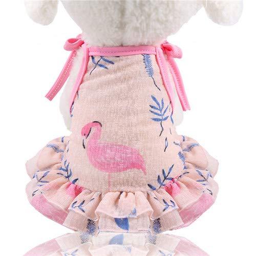 DZSHYXGW Zomer Hond Tullle Jurk Huisdier Hond Kleding Voor Kleine Hond Party Verjaardag Bruiloft Paar Draag Jurk Puppy Kostuum Lente Huisdier Kleding, M, Flamingo