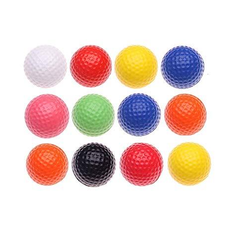Tigor Golfbälle – Übungsgolfbälle – Kinder Golfball – mehrfarbiger Leichter Schaumstoff elastisch Indoor Outdoor Training Sport Bälle (12 Stück)