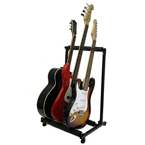 3 Guitar Stand Multi-Guitar Stand Display Rack Folding Stand For Band Stage Bass Acoustic Guitar
