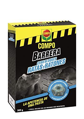 Compo Repelente Barrera de Roedores Bloques para Ratas y Ratones Ultra, Pastillas, Cebo para portacebos, 31 Unidades (300 g)