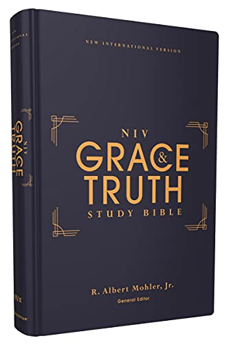 Compare Textbook Prices for NIV, The Grace and Truth Study Bible, Hardcover, Red Letter, Comfort Print  ISBN 9780310447122 by Zondervan,Mohler  Jr., R. Albert