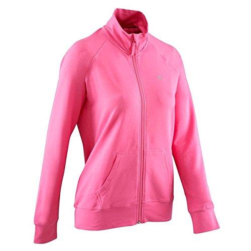 Domyos 1792200 Damen Trainingsjacke Pullover Sweatshirt Gr. 38, 40, rosa Pink (Größe: 40 (M))