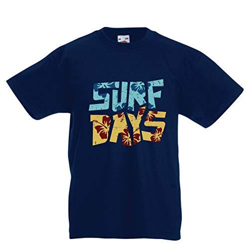 Lepni.me Camiseta Niño/Niña Días Surf Playa Verano
