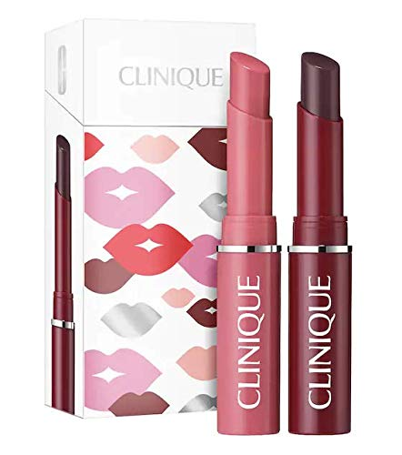 Clinique Almost Lipstick Set Duo Black Honey Pink Honey Holiday Set