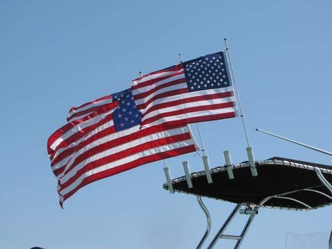 Cool Water Products Rod Holder Boat Flag Pole (6 Foot)