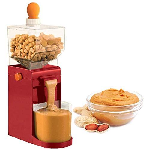 Elektrische Grinder, Mini Peanut Grinder, 500ML Haushaltsgetreidemühle Für Cashews Haselnüsse, 150W,Rot