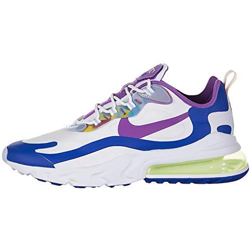 Nike Air Max 270 React Easter Cw0630-100 - Zapatillas de correr para hombre, Blanco (Blanco/Púrpura Nebulosa Lavado Coral), 45.5 EU