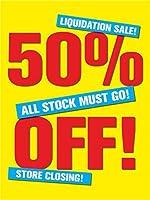 50% Off Retail Display Sign 18w x 24h 5 Pack [並行輸入品]