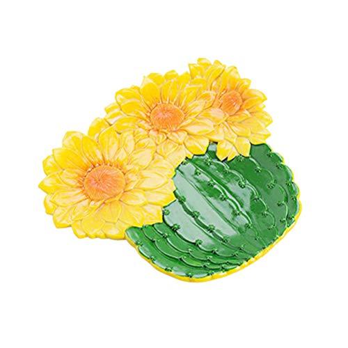 TOPBATHY Harz getrocknete Früchte Platte Simulation Pflanzen Nuss Gericht dekorative Schmuck Tablett (grüne Kugel Kaktus)