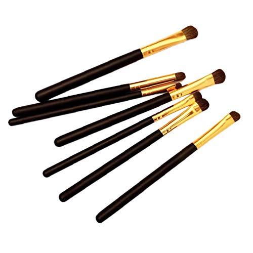 Maquillage des yeux 7pcs brosse cosmétiques professionnels Brosses Ombres à paupières Eyeliner outil Pinceau avec le sac pour les filles de femmes