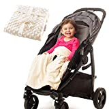 Non-Slip Stroller Blanket - Stays in Place, Off The Floor, Out of Stroller Wheels. Soft Baby Blanket by Intimom for Infant and Toddlers, Universal Fit for All Stroller, Pram,Car Seat.