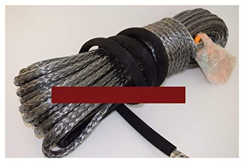 WFBD-CN Gris 10mm * 30m de la Cuerda de Wiinch de la Carretera, Cable de cabrestante ATV, Cuerda sintética, Cuerda de Plasma 10mm Adecuado para remolques