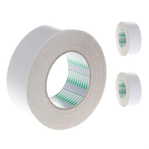 Tapijtband - 50mm x 25M - dubbelzijdig plakband extra sterk tapijt plakband zware plakband voor tapijten matten pads | voor binnen gebruik vloeren zoals hardhout tegels laminaat vloer, TKD5010