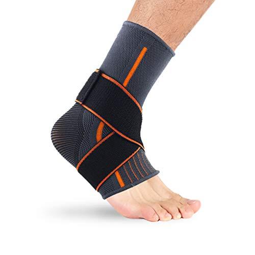 Edhua - Tobillera de compresión ajustable, tobilleras de compresión para fascitis plantar, calcetines de compresión para protección deportiva, tobillera de presión y esguinces