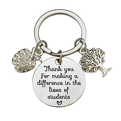 Teacher Appreciation Keychain Gifts for Women, Teacher Keychain Teacher Jewelry Gifts, Christmas Graduation Gifts for Teachers (Style D)