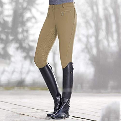 CXD Montar Polainas Fácil para Las Mujeres, Montar a Caballo y Saltando Pantalones cómodos con Antideslizantes de Las señoras Pantalones,XL