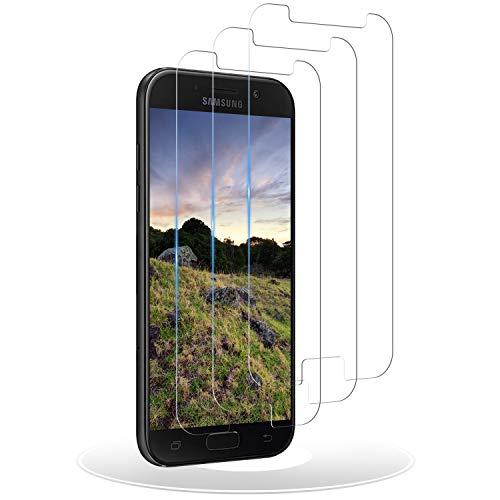 RIIMUHIR Cristal Templado para Samsung Galaxy A5 2017,Protector de Pantalla Galaxy A5 2017,Antiarañazos, Antihuellas, Sin Burbujas, Dureza 9H Vidrio Templado A5 2017-3 Unidades