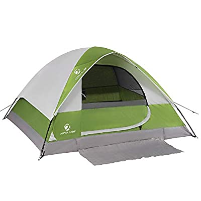 ALPHA CAMP 2/3 Person Camping Dome Tent with Carry Bag, Lightweight Waterproof Portable Backpacking Tent for Outdoor Camping/Hiking