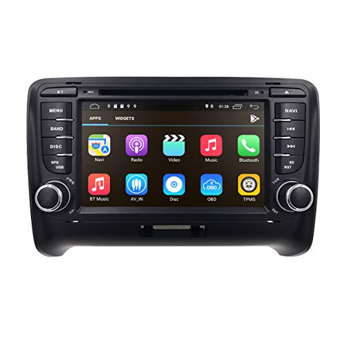 Android 10 7 Zoll 2 Din Car Stereo Radio Fits for Audi TT MK2 2006 2007 2008 2010 2010 2012 2013 Support GPS Navigation DVD Player Bluetooth USB SD Subwoofer 4G WiFi Dual Zone 1080P