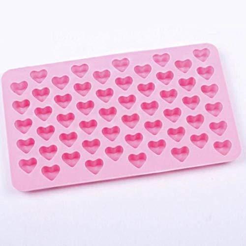 douzxc Mini corazón de 55 agujeros, pastel de silicona, galletas de chocolate, molde para hornear, cubo de hielo, molde para jabón, utensilios para hornear magdalenas, accesorios de cocina