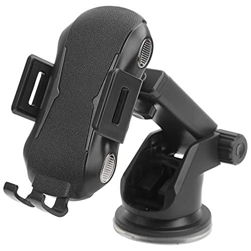 Socobeta Soporte 2 en 1 fácil de usar, cargador inalámbrico de coche con sujeción automática para el coche, soporte para teléfono ABS seguro para conducir silicona para una carga rápida