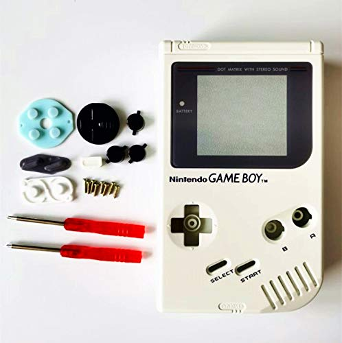 Gametown Full Housing Shell Cover Case Pack with Screwdriver for Nintendo Gameboy Classic/Original GB DMG-01 Repair Part-White