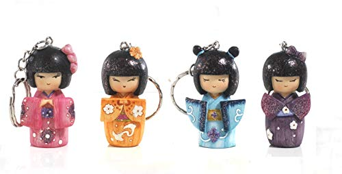 Subito disponibile BOMBONIERA SOLIDALE 12 PEZZI Portachiavi Giapponesina Geisha in resina d