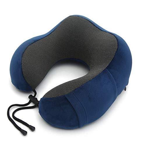 Azul Zafiro Almohadas de Cuello de Espuma de Memoria en Forma de U Almohada de Viaje Suave Cuello Almohada de avión Cervical Ropa de Cama de atención médica Cervical 30 * 28 * 14 cm