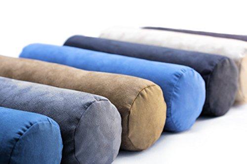 Nackenrolle aus supersoftem Visco-Schaumstoff, Ihr Begleiter auf Reisen, ob im Auto, Bett, Couch oder Flugzeug | Nackenkissen, Nackenstütze, Nackenstützkissen, Schlummerrolle (blau)