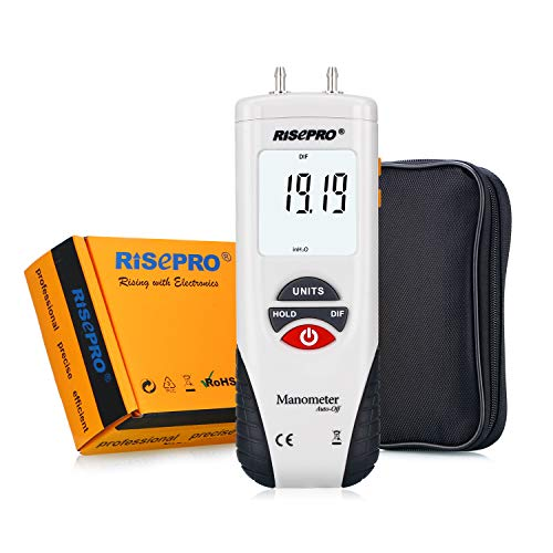 RISEPRO Digital Air Pressure Meter Manometer