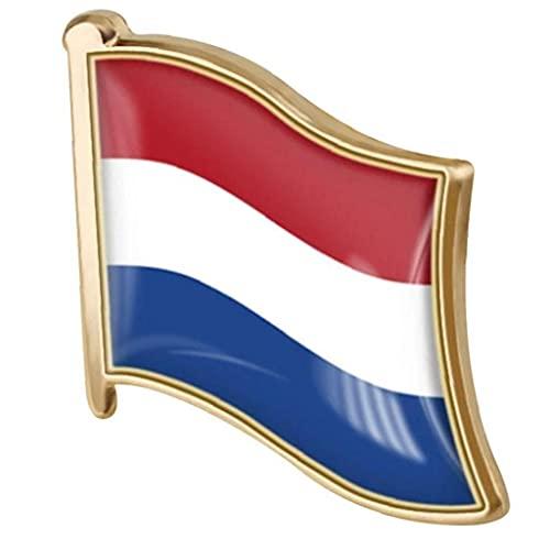 Ruluti 1pc Flag Broche Pin Metal Pin Badge Broche Banderas Países Bajos Solapa Pin Badge Hollanders Flag National Emblema