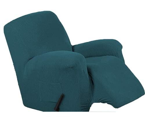 DWSM - Sofá de 1 plaza antideslizante para animales de compañía, extensible, grueso, reclinable, funda de sofá con bolsillo lateral antideslizante lavable, funda de sillón (7)