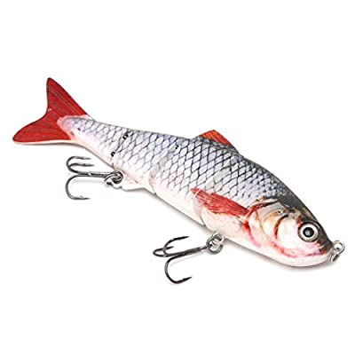Lergo 4-Segement Pike Lure With Mouth Swimbait Fishing Lure Bait Tackle 12cm 17g #16 by Lergo