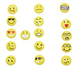 colorboy Funny Emoticon Soft Silicone Tennis Dampeners Tennis Shock Absorber (pack of 16) Emoji Easy Use tennis dampeners for all Tennis Player …