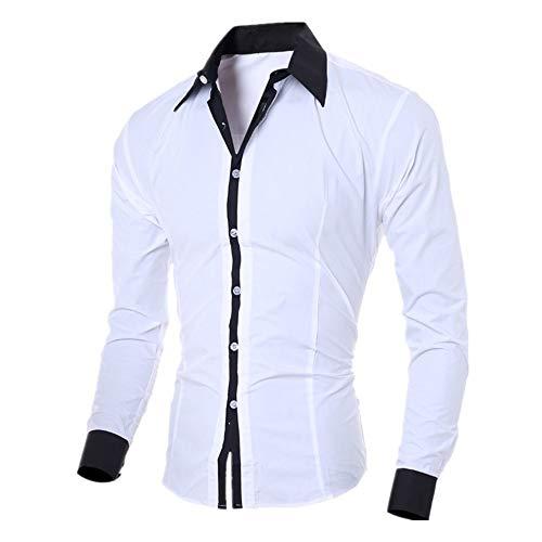 PPPPA Men's Long Sleeve Button Down Shirts Slim Fit Business Dress Shirts Mens Double Cuff Long Sleeve Dress Shirts Cufflinks Included Mens Slim Fit Long Sleeve Plaid Printings Business Checked Shirt