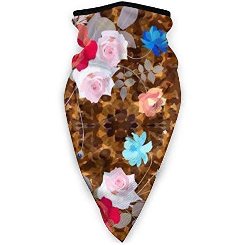 TTYIY - Máscara de esquí resistente al viento, máscara deportiva para el cuello, bufanda de motocicleta con bonitos ramos de rosas, pasamontañas, capa media térmica de invierno
