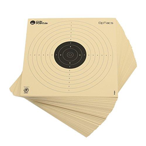 250 Stück Luftpistolenscheiben 17 x 17 cm / Zielscheibe Luftpistole