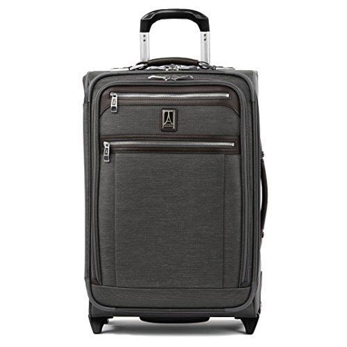 Travelpro Platinum Elite Softside Expandable Upright Luggage, Vintage Grey, Carry-On 22-Inch