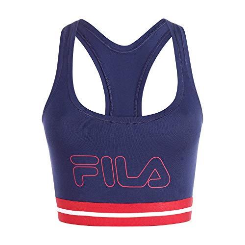 Fila Women's Classic Logo Cotton Racerback Sports Bra Navy