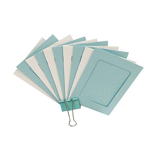 Da.Wa - 10 marcos de fotos de papel para colgar en la pared o en la pared (incluye 10 clips de madera y 1 cordel para colgar de 2 m)