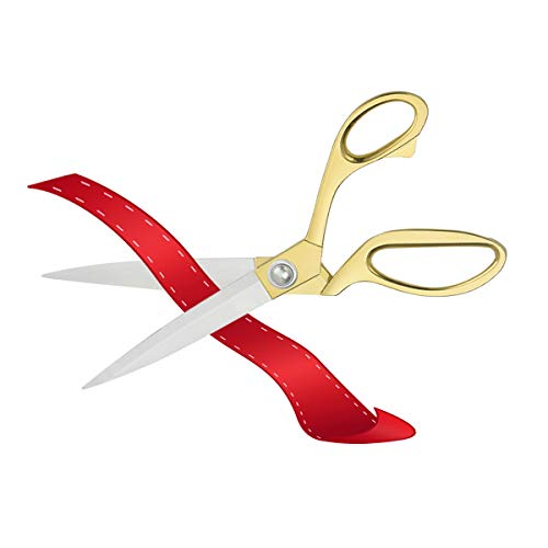 Ribbon Cutting Scissors Giant Scissors Large Scissors for Ribbon Cutting Ceremony Gold Scissors for Ribbon Cutting Professional Scissors for Fabric Heavy Duty Scissors for Cutting Plastic Cardboard