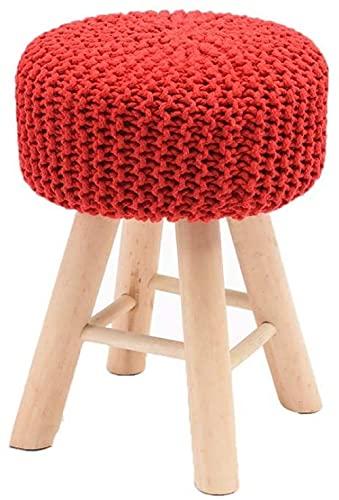 JINYUNDA Sofá taburete para el hogar, color Yarn, taburete alto, simple, creativo, dormitorio, salón, comedor, banco, perezoso estable