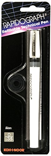 Koh-I-Noor Rapidograph Technical and Artist Pen.35mm Nib, 1 Each (3165.Z)