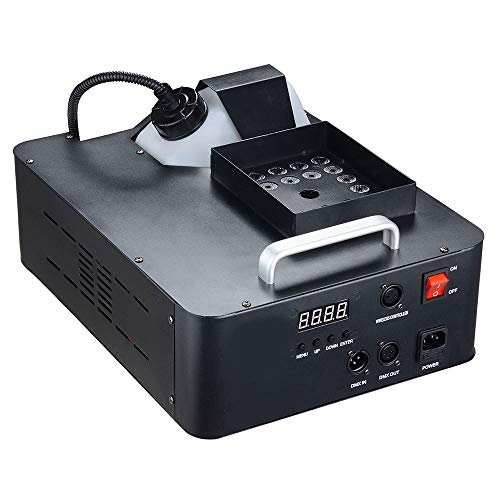 AW 1500W LED Smoke Fog Machine Stage Effect Fogger Equipment Wired Control for Halloween Christmas Weddings Disco Party